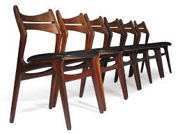 mid century rosewood dining chairs designed by erik buck model 310 sy dining