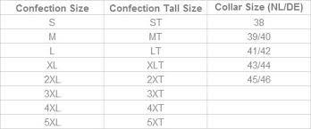 Red Camel Jeans Size Chart Maattabel Kleding Voor Lange Mannen Highleytall