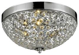 flush mount french empire crystal chandelier silver