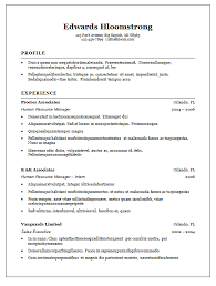 Gallery Of Traditional Cv Template Traditional Resume Template