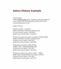 Salary Requirements Templates 19 Great Salary History Templates Samples Template Lab