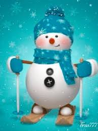 <b>Снеговик на лыжах</b> | Рождественские обои, Рождественский ...