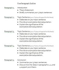 sample paragraph essay outline paragraph school and english