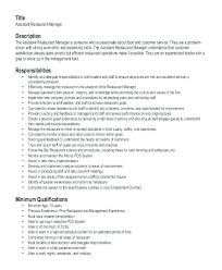 Restaurant Manager Job Description Resume Bar Sample Template Word ...