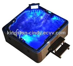 tv massage spa outdoor hot tubs with 180 jets and 35 led lights