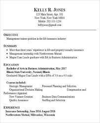 Sample Resume For Fresh Graduate Business Administration Template