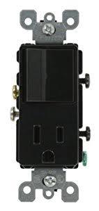 leviton e amp volt decora single pole ac leviton 5625 e 15 amp 120 volt decora single pole ac combination switch commercial grade grounding black