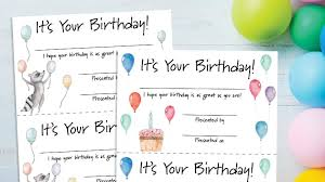 Certificates To Make Birthday Certificates Free Printable For Teachers