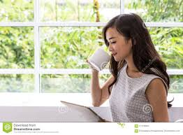 Use Tablet As Phone Young Woman Using Tablet In Coffee Shop Woman Use Mobile