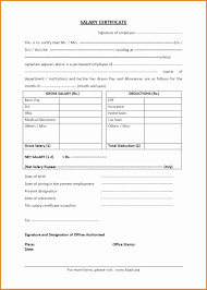 7 Salary Certificate For Bank Besttemplates Besttemplates