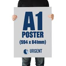 Large Format Poster A2 A0 Urgent Printing