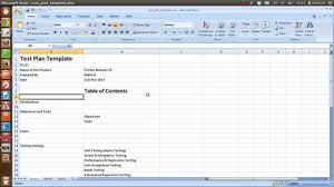 test plan template excel ieee sample test plan template youtube