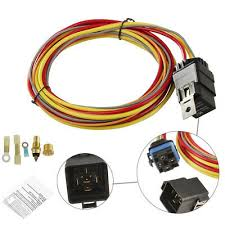 new dual electric cooling fan wiring install kit 185 165 thermostat dual electric cooling fan wiring harness install kit 185 165 hermostat 40a relay
