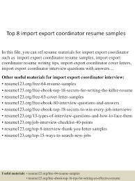 Import Resume Sample Top224importexportcoordinatorresumesamples22450522422407593224lva224app622492thumbnail24jpgcb=224243224332242224 12
