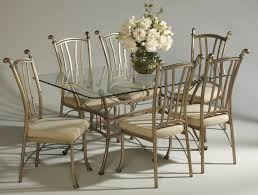 rectangular glass dining tables. Dining Room Sets From Iron : Vintage Furniture Of Rectangular Glass Table Combine Tables