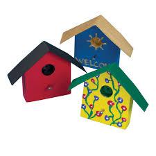 mini wood birdhouse magnet craft kit makes 12
