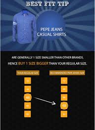 Pepe Jeans Casual Shirt Size Chart Pepe Jeans Blue Washed Slim Fit Denim Shirt