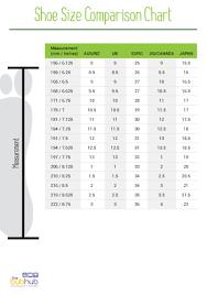 Us Shoe Size Comparison Chart Shoe Size Comparison Chart Printable Bub Hub
