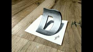 how to draw 3d letter d 3d letter drawing 3d trick art on paper art maker akshay