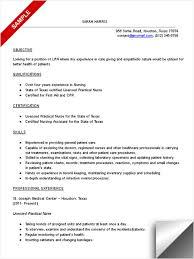 Practical Nurse Resume 69 Images New Grad Lpn Resume Sample