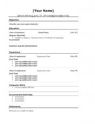 Template Ideas Free Resume Templates For Teens Of Best No Work