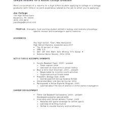 Extracurricular Activities In Resumes Activities Resume Examples