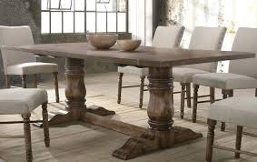 weathered oak round extending dining table acme collection 4 1