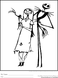 Free Nightmare Before Christmas Coloring Pages Printable Many