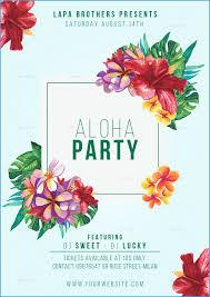 Luau Flyer Free Hawaiian Luau Flyer Template Lovely Aloha Party Flyer Template
