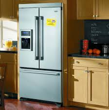 french door refrigerator in kitchen. Amusing Above Fridge Kitchen Cabinets White Metal Refrigerator Bottom Frezeer Black Granite Countertops Brown Rustic French Door In A