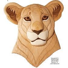 Intarsia Patterns Impressive CTP48 Lion Cub Woodworking Intarsia Pattern Intarsia