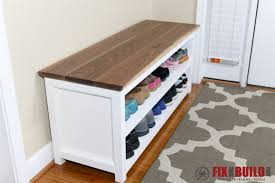 Entry benches shoe storage Walmart Diy Entryway Bench Ana White Ana White Entryway Shoe Bench Diy Projects