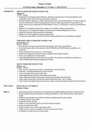 Fitness Instructor Resume Sample Group Fitness Instructor Resume Sample New Group Exercise Instructor 24