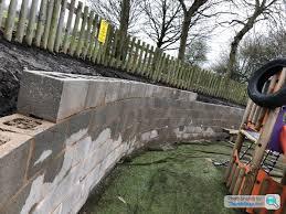 railway sleepers retaining wall