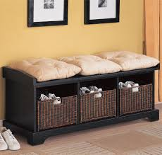 Living Room Bench With Storage Living Room Attractive Storage Bench For Living Room With Black