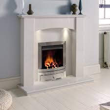the gallery white marble gas fireplace suite eko fire