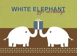 Gift Exchange Idea White Elephant Gift Exchange Holiday Party Invitation