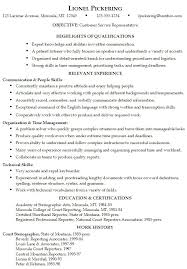 Sample Resume for someone seeking a job as a Customer Service Representative