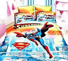 superman bedding for kids blue cartoon superman bedding sets boys bedroom decor single twin size bed