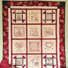 Unique and Creative RedWork Designs, RedWork Patterns and ... & Picture of Stitchin' Wisdom Hand Embroidery Quilt Adamdwight.com