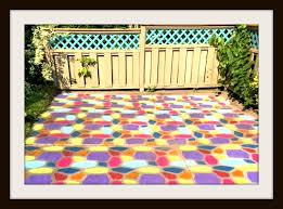 paint old concrete for a colorful patio