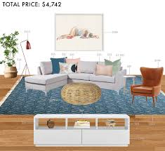 Living Room Budget Budget Rooms Colorful Living Room With Sectional Emily Henderson