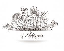 花の線画ベクトルアート ベクター画像 無料ダウンロード