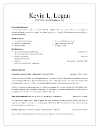 resume for pastor position