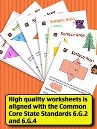 Kids Math-Volume&Surface Area Worksheets(Grade 6) (iPad) reviews ...