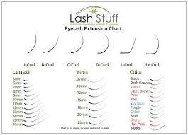 Fake Eyelash Size Chart Lash Stuff Size Chart In 2019 Eyelash Extension Supplies