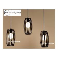 style industrial hanging light black mini pendant lamp e27 ceiling light set of 3 with long based 500mm