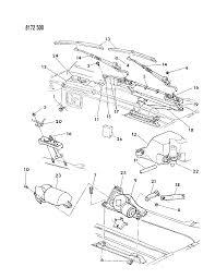 1988 dodge shadow windshield wiper washer system diagram 00000zxw