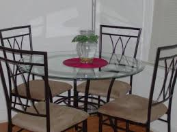 mainstays 5 piece glasetal dining set 42 round tabletop com
