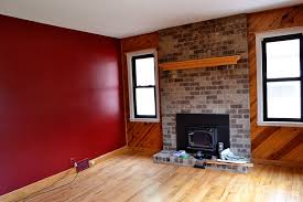 Small Picture Maroon Color Walls Interior Painting